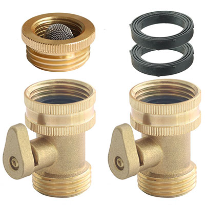 9. PLG Solid Brass Garden Hose Connectors