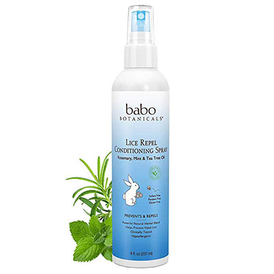 4. Babo Botanicals Lice Repel Conditioning Spray