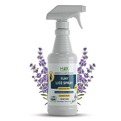 7. MDXconcepts Organic Lice Killer - Repellent Spray