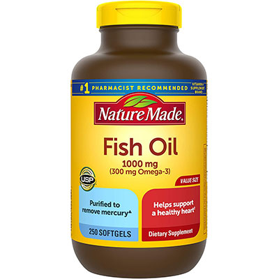 4. Nature Made Fish Oil 1000 mg