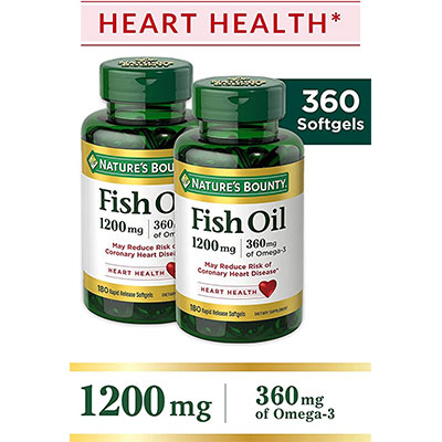 6. Nature's Bounty Fish Oil 1200 mg
