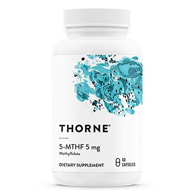 3. Thorne Research - 5-MTHF 5 mg Folate - 60 Capsules