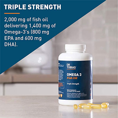 2. Dr. Tobias Omega 3 Fish Oil