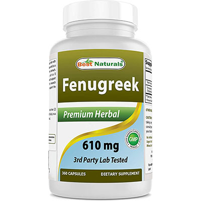 7. Best Naturals Fenugreek Seed Capsules by Best Naturals
