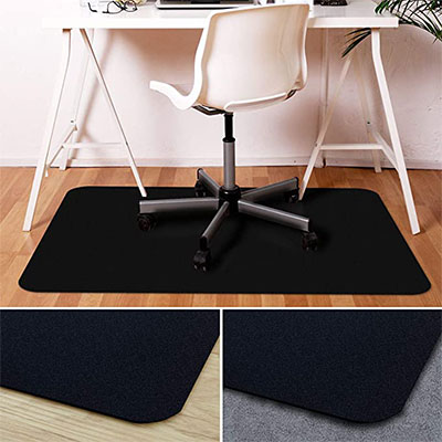 7. Office Marshal Black Polycarbonate Chair Mat