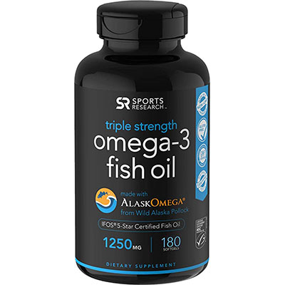 8. Sports Research Wild Alaskan Fish Oil