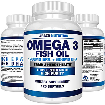 10. Arazo Nutrition Omega 3 Fish Oil
