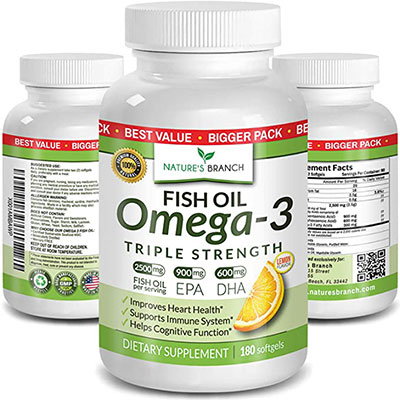 3. Best Triple Strength Fish Oil Pills