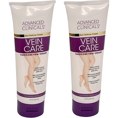 3. Advanced Clinicals Vein Care (Two - 8oz)