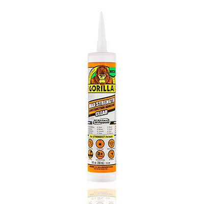 3. Gorilla Max Strength Clear Construction Adhesive