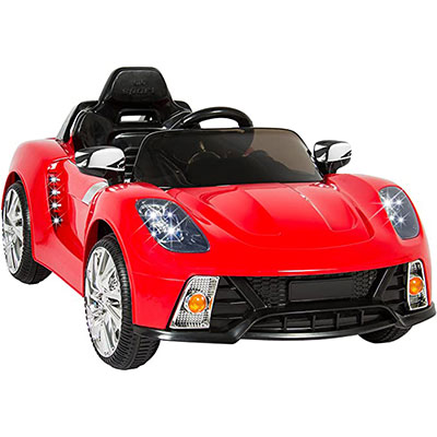 6. Best Choice Products Kids 12V Electric RC Ride, Red