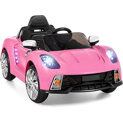 8. Best Choice Products Kids 12V Electric RC Ride, Pink
