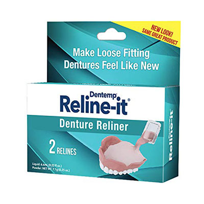 8. D.O.C. Reline-It Advanced Denture Reliner Kit