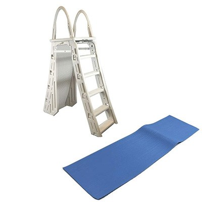 4. Confer Heavy-Duty A-Frame Above-Ground Pool Ladder