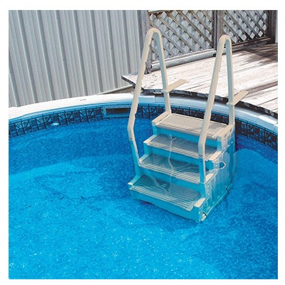 9. NEW CONFER STEP-1 Above Ground Pool Ladder Step System Entry with 2 Sand Weights