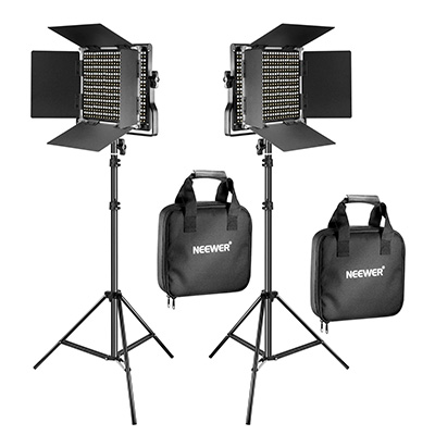 3. Neewer 2 Pieces Bi-Color Video Light