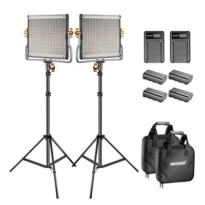 5. Neewer Bi-Color LED 480 Video Light and Stand Kit