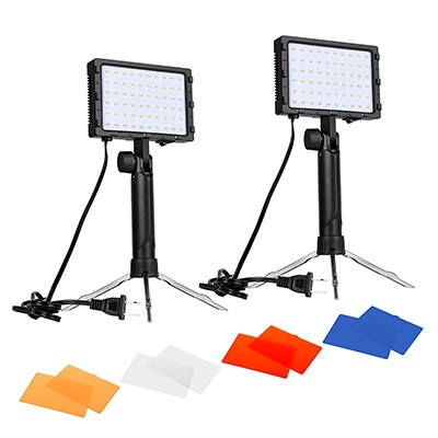 2. Emart 60 LED Continuous Portable Photography Lighting Kit