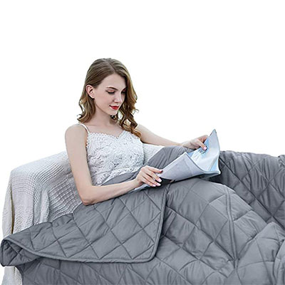 6. ZZZhen Weighted Blanket