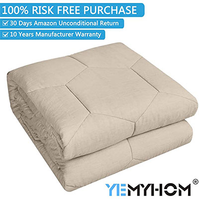 2. YEMYHOM 100% Cotton Weighted Blanket