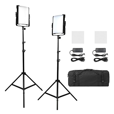 9. Pixel 2pack Bi-Color Dimmable Video Shooting Light