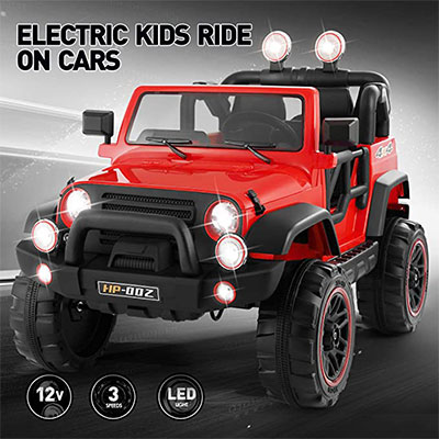 3. Fitnessclub Electric Cars for Kids, 12V