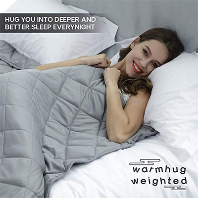 1. WarmHug Weighted Blanket 17 lbs