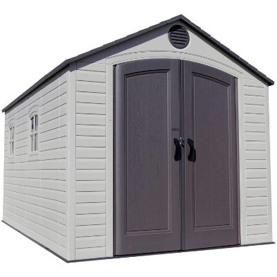 10. LIFETIME 60075 8 x 15 Ft. Outdoor Storage Shed