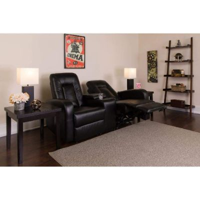 3. Flash Furniture Eclipse Leather Theater Seating Unit