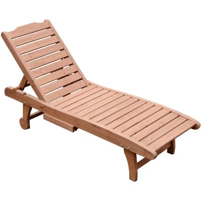 3. Outsunny Reclining Outdoor Wooden