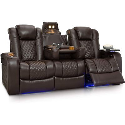4. Seatcraft Pantheon Home Theater Seating Leather Power Recline