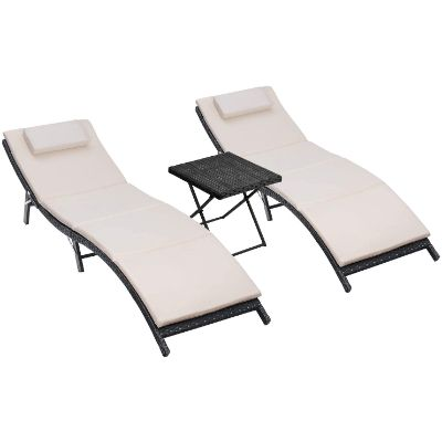 6. Homall Patio Chaise Lounge Chair Sets