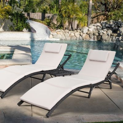 7. Devoko Patio Chaise Lounge Sets