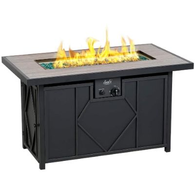 3. BALI OUTDOORS Rectangle Propane Gas Fire Pit Table
