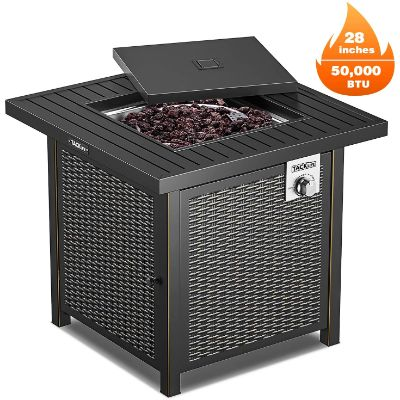 9. TACKLIFE Propane Fire Pit Table