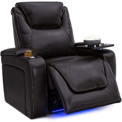 5. Seatcraft Pantheon Home Theater Seating Leather Power Recline