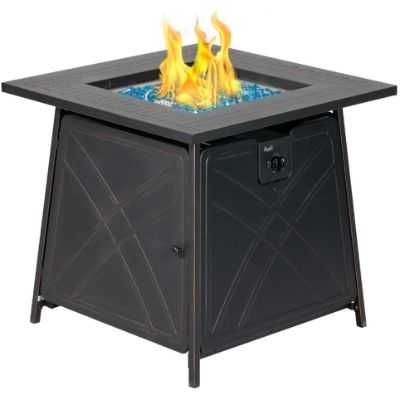 7. BALI OUTDOORS Gas Fire Pit Table