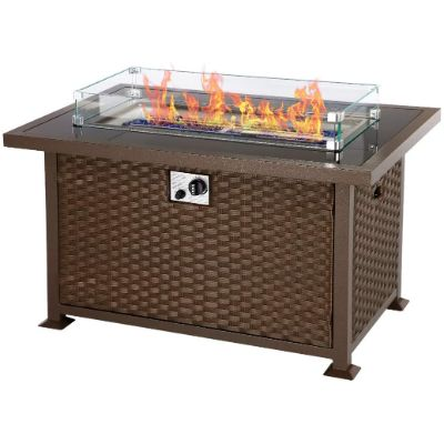 5. U-MAX 44in Outdoor Propane Gas Fire Pit Table