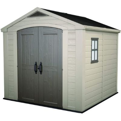 4. Keter Factor 6x6 Large Resin Storage Shed
