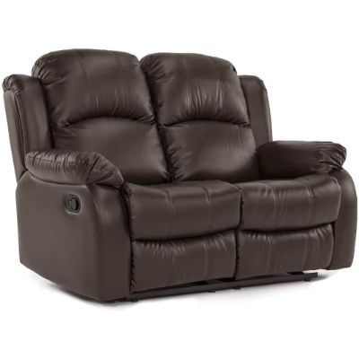 1. Divano Roma Furniture Bonded Leather-2 Seater Recliner Sofa (Brown)