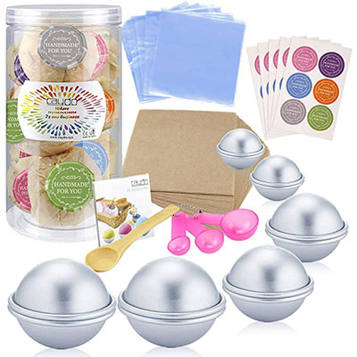 7. Caydo 176 Pieces D.I.Y. Bath Bomb Molds Set