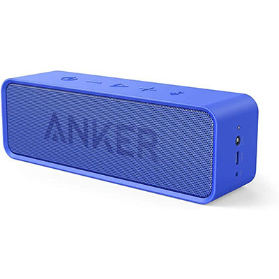 10. Anker Soundcore Bluetooth Speaker with Loud Stereo Sound