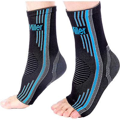 6. Doc Miller Ankle Brace Compression Support Sleeve Socks 1 Pair