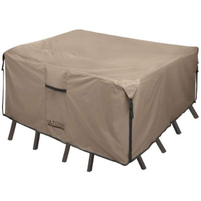 7. ULTCOVER Square Patio Heavy Duty Table Cover