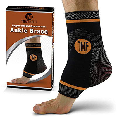 3. Treat My Feet Ankle Compression Brace with Silicone Ankle Support