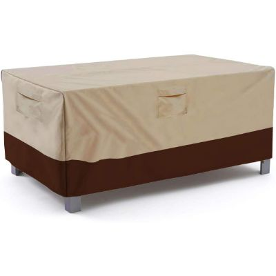 2. Vailge Veranda Patio Table Cover, Large Beige & Brown