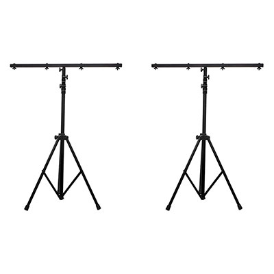 5. American DJ 2 Pack LTS-6 T-Bar Light Stand w/Cross Bar