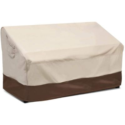 8. Vailge Deep Patio Sofa Cover, Beige & Brown