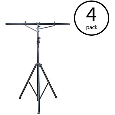 1. American 4 Pack DJ 12 Foot Tripod T-Bar Light Stand