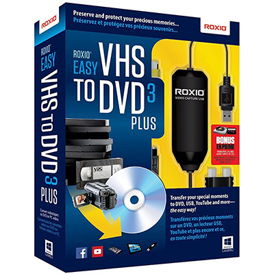 9. Roxio Easy VHS to DVD 3 Plus Recorder